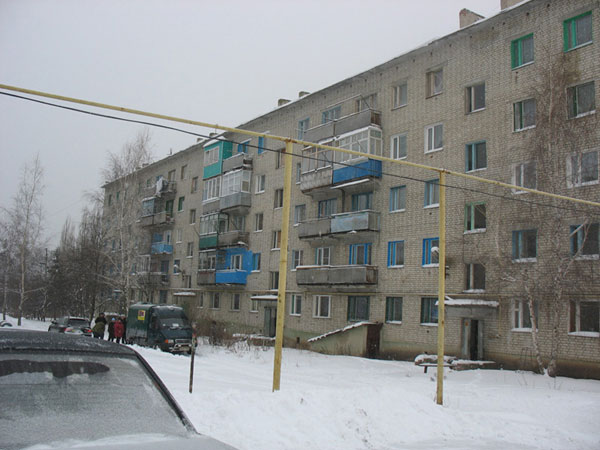 Soviet five storey apartment