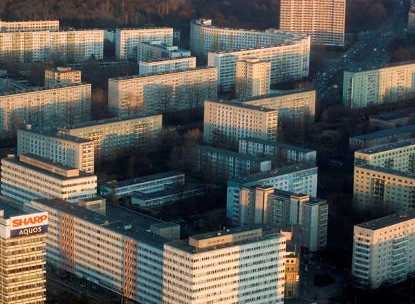 Soviet housing massif