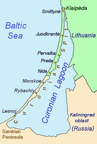 Curonian Spit map
