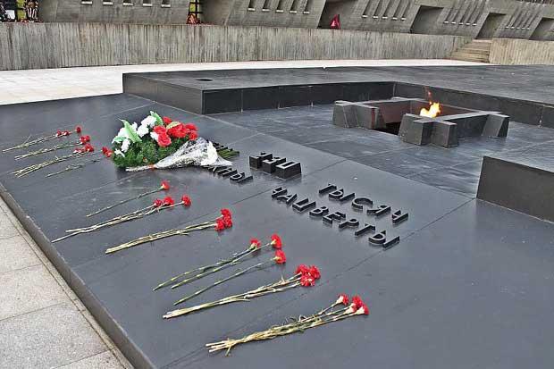 eternal flame at Khatyn Memorial, Belarus