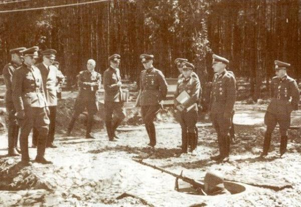 Hitler at Wehrwolf Headquarters, Ukraine