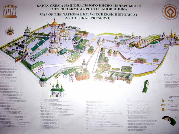 Kiev Pechersk Lavra map