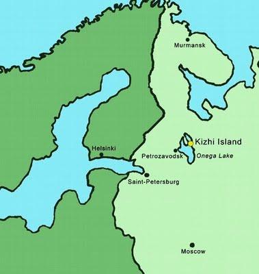 Kizhi Pogost map