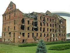 ruins from the Battle of Stalingrad