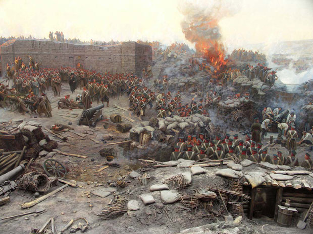 Siege of Sevastopol panorama painting