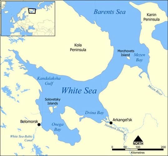 Solovetsky Islands map