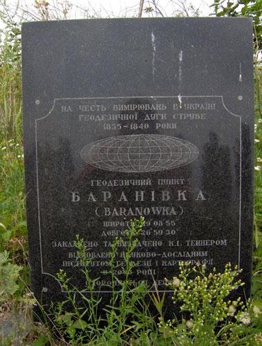 Struve Geodetic Arc - Baranivka, Ukraine