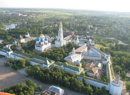 Trinity Sergius Lavra aerial view