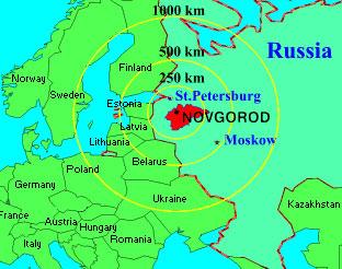Veliky Novgorod map