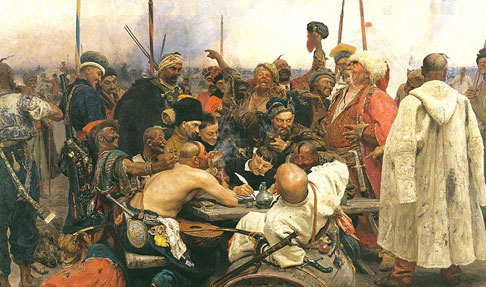Ilya Repin - Zaporozhian Cossacks Writing a Letter to the Turkish Sultan